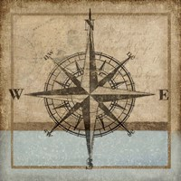 Compass Rose I Framed Print
