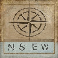 Compass Rose II Fine Art Print