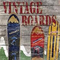 Vintage boards I Framed Print