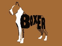 Boxer Word 2 Fine Art Print