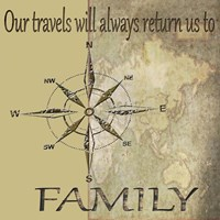 Travels lead back to Family Fine Art Print