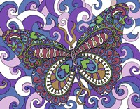 Bashful Garden Butterfly Soaring High Fine Art Print