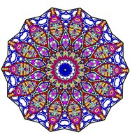 Bubbles Mandala Overflowing Fine Art Print