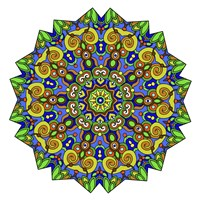 Colorful Calming Mandala Fine Art Print