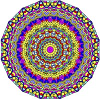 Hearts Mandala Glowing Fine Art Print