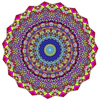 Kisses Mandala in Red Fine Art Print