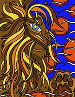 Lester the Lion Alive Fine Art Print