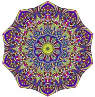 Pretty Pieces Mandala Fine Art Print