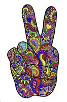 Psychedelic Mehndi Peace SIgn Fine Art Print