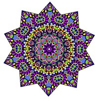Shining Mandala in Purples Fine Art Print