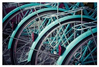 Bicycle Line Up 2 Fine Art Print