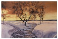Amber Ice Fine Art Print