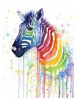 Rainbow Zebra Fine Art Print
