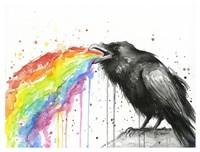 Raven Tastes the Rainbow Fine Art Print