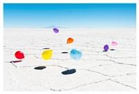 Balloons Three, Salar de Uyuni, Bolivia Fine Art Print