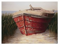Red Boat Fine Art Print