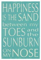 Happiness Is the Sand... Fine Art Print