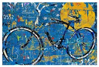 Blue Graffiti Bike Fine Art Print