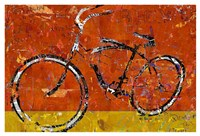 Gold and Orange Bike Fine Art Print