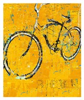 Gold Bike Fine Art Print