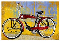 Red Bike with Star Fine Art Print