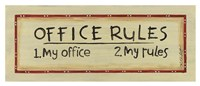 Office Rules Fine Art Print