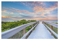 The Walk To Sunset Beach Fine Art Print