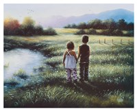 Country Kids Fine Art Print