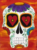Fire Sugar Skull Fine Art Print