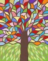 Tree of Life - Rainbow I Fine Art Print