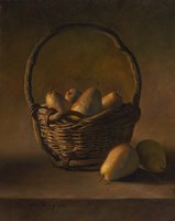 Basket With Pears Fine Art Print