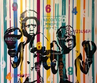 Boxers And Alphabet Fine Art Print