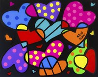 Pile Of Hearts Fine Art Print