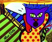 Scream Cat Fine Art Print