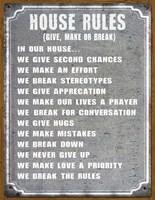 House Rules Fine Art Print