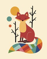 Rainbow Fox Framed Print