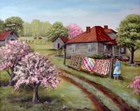 Grandma's Quilts Fine Art Print