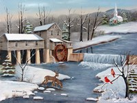 Pigeon Forge In The Winter Fine Art Print