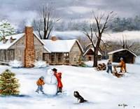 The Snowman Fine Art Print
