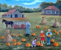 The Pumpkin Patch 2 Fine Art Print