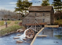 Howard's Creek Mill 1930s Fine Art Print