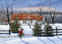 Mom and Dad's at Christmas Fine Art Print
