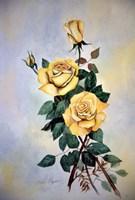 Yellow Roses Sprig Fine Art Print