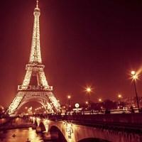 Eiffel at Night Fine Art Print