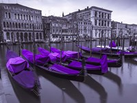 Purple Gondolas 1 Fine Art Print