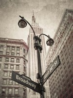 Broadway Intersection Fine Art Print