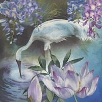 Crane & Wisteria Fine Art Print