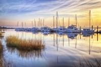 Boats At Calm Fine Art Print