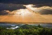 Rays Over Blue Ridge Fine Art Print