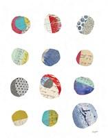 Geometric Collage II on White Fine Art Print